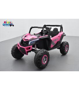 Buggy Scorpion 24 Volts 7Ah Rose, 4 moteurs de 60 watts, buggy deux places, buggy électrique enfant