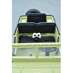 4X4 Jeep Desert Willys Beige, voiture électrique enfant, 12V - 4 moteurs