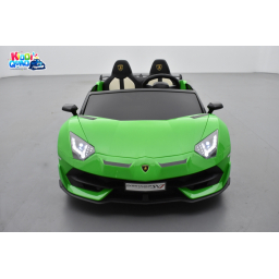 Lamborghini SVJ 24 Volts verte, voiture électrique enfant 24V - 7AH, 2 moteurs
