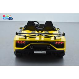 Lamborghini SVJ 24 Volts jaune, voiture électrique enfant 24V - 7AH, 2 moteurs