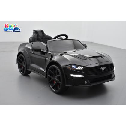 Ford Mustang GT Noir avec écran MP4, voiture électrique pour enfant 24 volts
