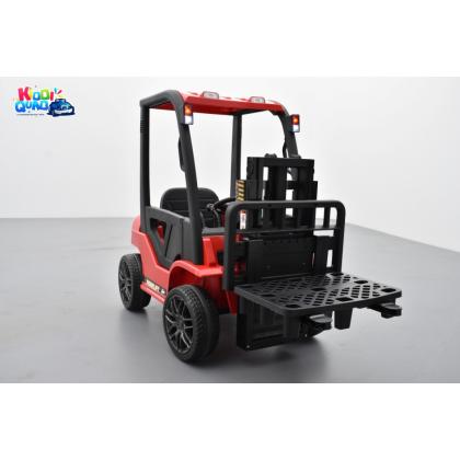 Fenwick rouge avec chariot élévateur, véhicule électrique pour enfant, 12Volts - 10AH, 2 moteurs