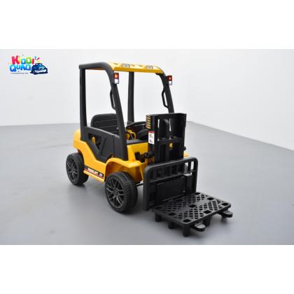 Fenwick jaune avec chariot élévateur, véhicule électrique pour enfant, 12Volts - 10AH, 2 moteurs