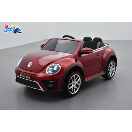 """Volkswagen Coccinelle Dune """"Beetle"""" Rouge Métallisée, 12 volts, voiture électrique pour enfant"""