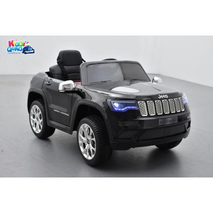 Jeep Cherokee Noir Métallisé, véhicule électrique enfant, 12V - 2 moteurs