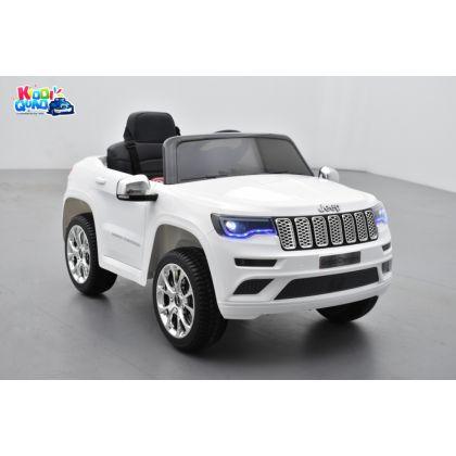 Jeep Cherokee Blanc, véhicule électrique enfant, 12V - 2 moteurs