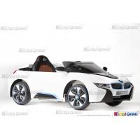 BMW I8 Blanc, voiture électrique pour enfant, 12 volts, 2 moteurs