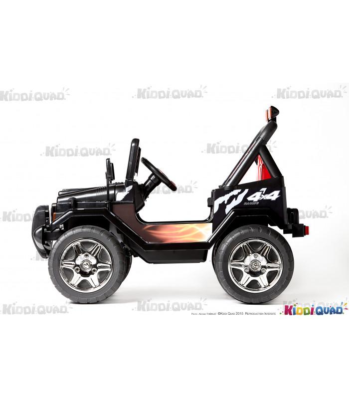 4x4 lectrique pour enfant jeep noir 12 volts kiddi quad. Black Bedroom Furniture Sets. Home Design Ideas