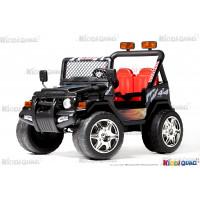 4X4 électrique pour enfant Jeep noir, 12 volts