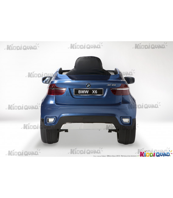 BMW X6, Bleu Métallisée, voiture électrique enfant, 12 volts, 2 moteurs