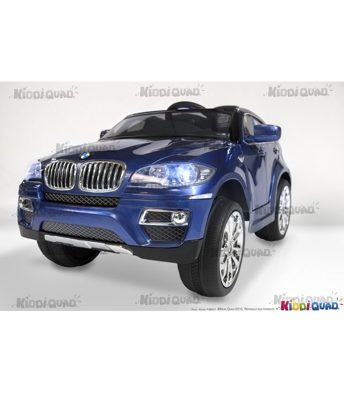 bmw x6 12 volts lectrique pour enfant bleu m tallis. Black Bedroom Furniture Sets. Home Design Ideas