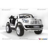 MINI BeachComber Blanc Version XXL, voiture électrique pour enfant, 12V - 10Ah, 2 moteurs