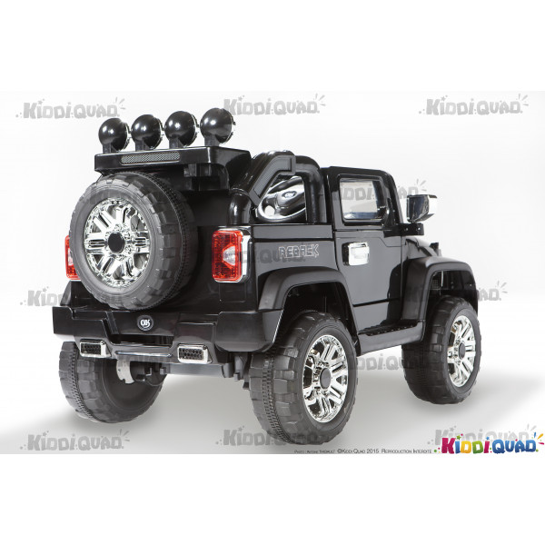4x4 jeep lectrique pour enfant noir 1 place 12volts kiddi quad. Black Bedroom Furniture Sets. Home Design Ideas