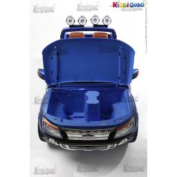 Ford Ranger Bleue Métallisée VERSION LUXE avec télécommande 2,4Ghz, voiture électrique pour enfant 2 places, 12 volts