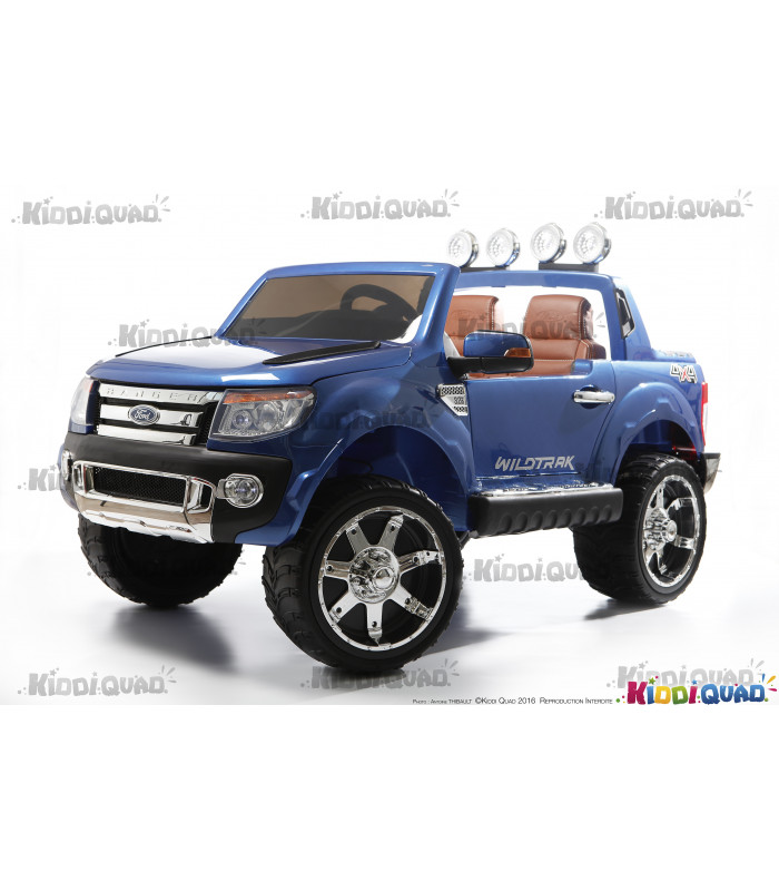 ford ranger 12 volts version luxe pour enfant bleu m tallis. Black Bedroom Furniture Sets. Home Design Ideas
