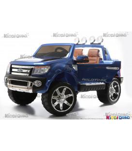 Ford Ranger Version Luxe bleu métallisé avec télécommande parentale 2.4 GHz, voiture électrique pour enfant 2 places, 12 volts