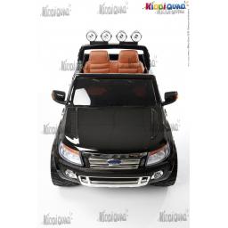 Ford Ranger Noir Métallisée VERSION LUXE avec télécommande 2,4Ghz, voiture électrique pour enfant 2 places, 12 volts
