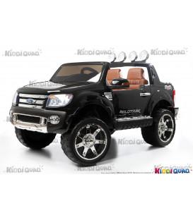Ford Ranger Version Luxe noir métallisé avec télécommande parentale 2.4 GHz, voiture électrique pour enfant 2 places, 12 volts