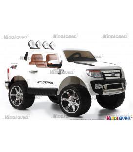 Ford Ranger Version Luxe blanc avec télécommande parentale 2.4 GHz, voiture électrique pour enfant 2 places, 12 Volts