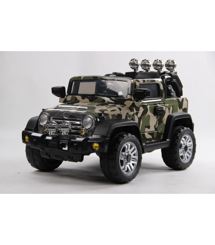 d couvrez la toute nouvelle jeep style camouflage lectrique 12 volts. Black Bedroom Furniture Sets. Home Design Ideas