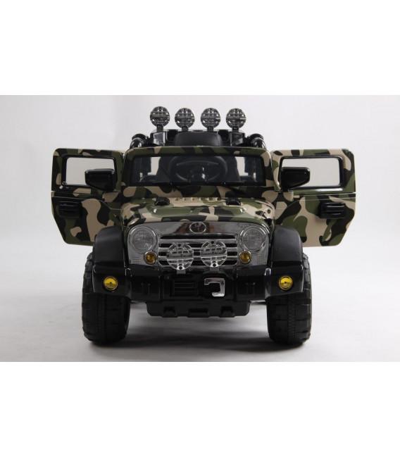 4x4 Jeep Électrique pour enfant, version camouflage, 1 place, 12Volts