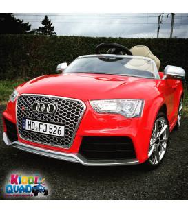 Audi RS 5 Rouge Métallisé, 12 Volts, voiture électrique pour enfant