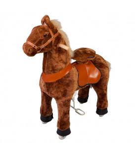 PonyCycle Marron, cheval à roulettes enfant 4 à 10 ans