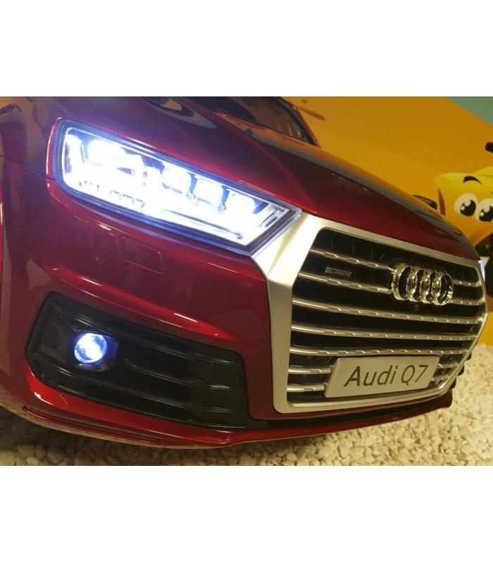 45a273434d8199 Audi Q7 S-Line Rouge Misano métallisé, voiture électrique pour enfant 12  volts