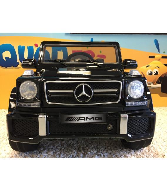 Mercedes G63 AMG Night Black, voiture électrique pour enfant, 12V