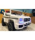 Mercedes G63 AMG Polar White, voiture électrique pour enfant, 12V