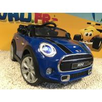 Mini Cooper Bleu Lapis, voiture électrique pour enfant 12 volts