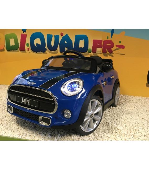 mini cooper bleu 12 volts lectrique pour enfant. Black Bedroom Furniture Sets. Home Design Ideas