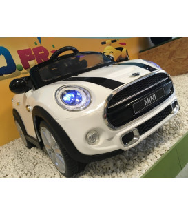 Mini Cooper Blanc Pepper, voiture électrique pour enfant 12 volts