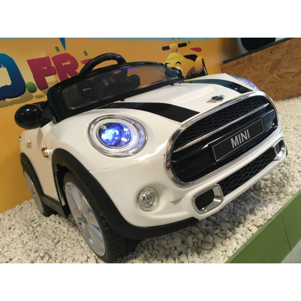 mini cooper blanc 12 volts électrique pour enfant