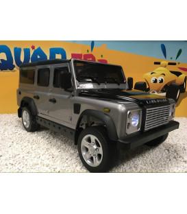 Land Rover Defender Gris Zermatt, voiture électrique pour enfant 12 volts avec télécommande parentale
