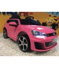 Volkswagen Golf GTI Performance Rose, 12 volts, voiture électrique pour enfant