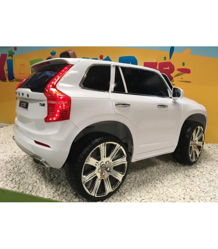 volvo xc90 t6 momentum blanc glace voiture lectrique 12 volts pour enfant avec portes. Black Bedroom Furniture Sets. Home Design Ideas