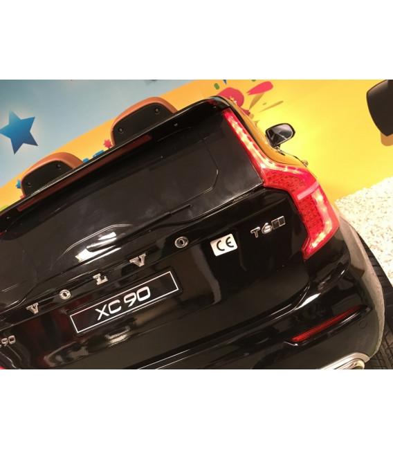 Volvo XC90 T6 Momentum Noir Onyx métallisé, Voiture électrique pour enfant avec télécommande parentale