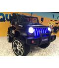 4x4 Jeep Noir 4 roues Motrices de 45W, voiture électrique 12 volts roues gomme et télécommande parentale