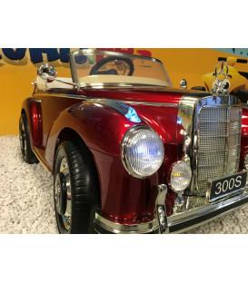 Mercedes 300S Rouge Impérial Métallisé, voiture électrique pour enfant, 12V - 2 Moteurs