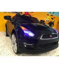 Nissan GT-R Noir Métallisé 12 volts, Voiture électrique pour enfant télécommande parentale 2.4 GHz, roues gomme
