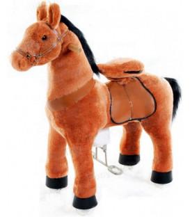 PonyCycle Marron foncé, cheval à roulettes enfant 4 à 10 ans