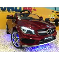 Mercedes CLA Turbo AMG Rouge Ligne Executive, avec télécommande parentale, voiture électrique enfant, 12V7AH - 2 moteurs