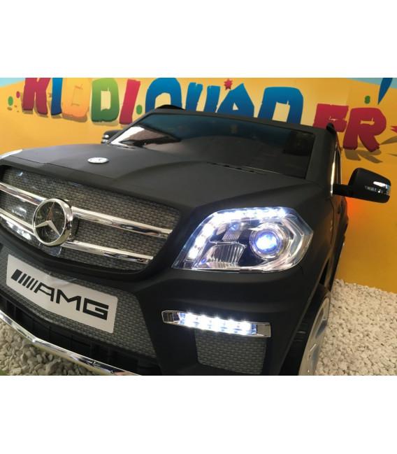 Mercedes GL63 AMG Noir mat, voiture électrique pour enfant, 12Volts - 2 moteurs