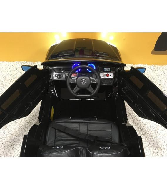 Mercedes GL63 AMG Noir métallisé, voiture électrique pour enfant, 12Volts - 2 moteurs