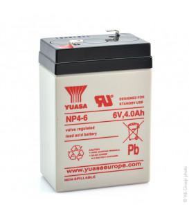 Batterie YUASA 6V 4 Ah pour voiture et moto électrique enfant