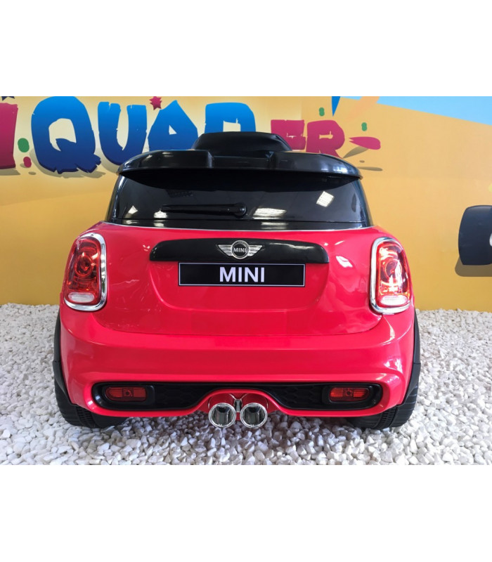 mini cooper rouge 12 volts lectrique pour enfant. Black Bedroom Furniture Sets. Home Design Ideas
