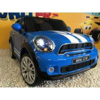 Mini Paceman All4 John Cooper Works Bleu Lapis avec télécommande parentale 2.4 GHz, voiture électrique pour enfant 12 volts