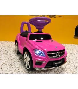 Trotteur voiture Mercedes GL63 Rose, porteur pousseur voiture