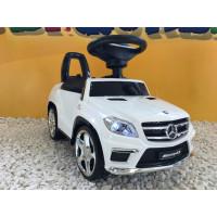 Trotteur voiture Mercedes GL63 Blanc, porteur pousseur voiture